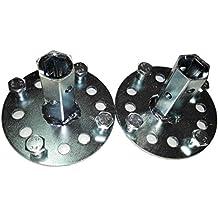 Bricoferr PT600041 - Eje hexagonal para ruedas metálicas/aperos de motoazada (23 mm)