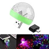 TiooDre Mini Discoball USB Professional RGB 4 LED Licht Bühne Party Projektor Effekt Birne Urlaub Hochzeit Dekoration