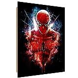 Feeby. Quadro Deco Panel - 1 Parte - 50x70 cm, Pannello singolo Quadro Decorativo Stampa artistica, Epic Spiderman - Barrett Biggers, FILM, ROSSO