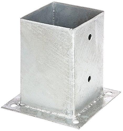 Pfostenhülse Aufschraubhülse für Pfosten 10x10 cm mit Bodenplatte von Gartenwelt Riegelsberger