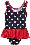 Attraco Baby Schwimmanzug Mädchen Einteiler Baby Badeanzug Polka Dots Badebekleidung Baby Dunkelblau 3-6 Monate