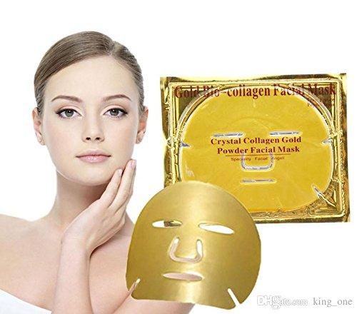 Matchstix Gold bio-collagen facial mask, gold face mask for women beauty(Pack of 3)