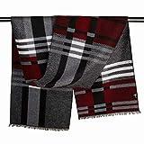 WXL Seidenschals Herrenschals Herbst und Winter Bib Silk/British Business V (Farbe : Striped)