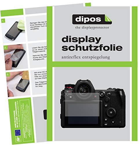 dipos I 6X Schutzfolie matt passend für Panasonic Lumix S1 Folie Displayschutzfolie
