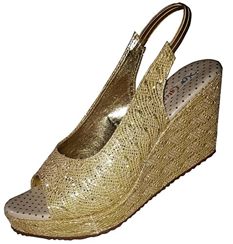 New latest woman 's party wear golden sandal (9)