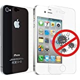 Ozaki IC871 iCoat 0.4 Pack de 2 Films de protections avant / arrière anti-bactérie pour iPhone 4 Transparent