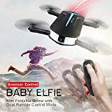 ETROGO Mini WiFi FPV Selfie Drone Original JJRC H37 Mini Baby Elfie with 720P Camera 6 Axis Gyro 4 Channel Foldable Quadcopter G-Sensor 1 Piece Black