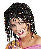 Générique pe151–Peluca Rasta negro con perlas–talla única
