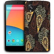 Snoogg Patrón De Amarillo Funda Carcasa de diseño para LG Nexus 5