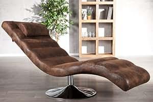 extravagante relaxliege luxor braun antik look k che haushalt. Black Bedroom Furniture Sets. Home Design Ideas