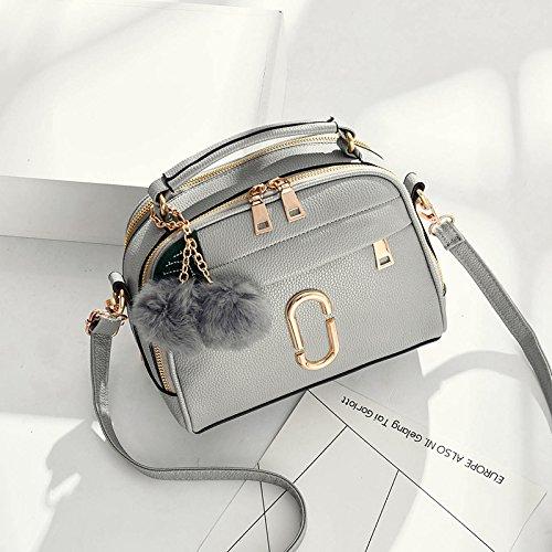 Pacchetto LiZhen femmina coreano nuovi eleganti camere singole borse tracolla minimalista, algebra lineare pacchetti hanno bisogno di selvatica piccola borsa borse donna, Grigio