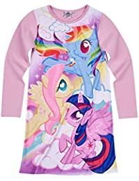 Official Hasbro My Little Pony MLP Long Sleeve Nightie, Nightdress pjs 100% Cotton 3-10 Years