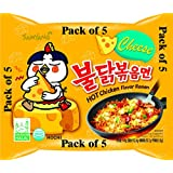 Samyang Hot Chicken Flavor Noodles Cheese 140 GMS (Pack Of 5)