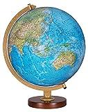 Traditional Globe w Die Cast Semi-Meridian & Raised Relief