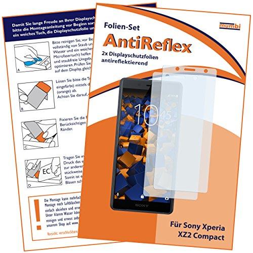 mumbi Schutzfolie kompatibel mit Sony Xperia XZ2 Compact Folie matt, Bildschirmschutzfolie (2x)