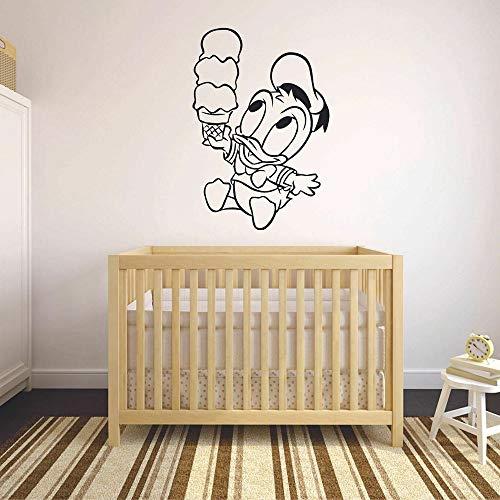 Tianpengyuanshuai Cartoon Wandtattoo EIS Kühlschrank Vinyl Aufkleber Kinder Schlafzimmer Kindergarten Dekoration süße Tapete 42x61cm