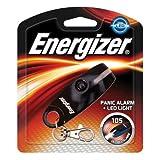 Panic Alarm mit LED-Lampe, schriller Alarmton 105 Dezibel,, Karabinerhaken, incl. 1 Batterie A23