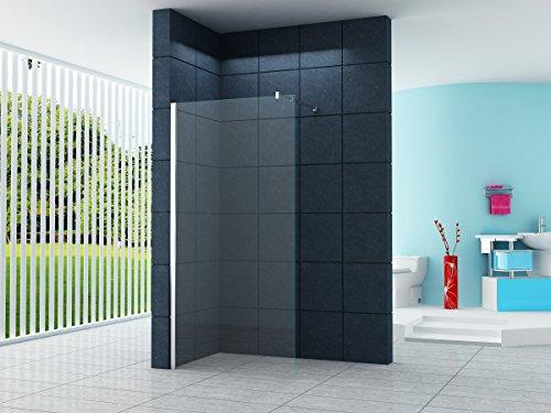 10 mm Cabine de douche Düsseldorf 110 x 200 cm / Walk-In Cloison de douche Paroi de douche Verre De Sécurité Douche