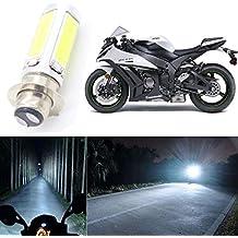 12V H6BA20D motocicleta LED COB lámpara de faro delantero motocicleta cabeza (1pieza)
