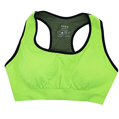 JFIN Femmes Yoga Soutien-gorge Nylon Bounce Bleu Indy Pro Green