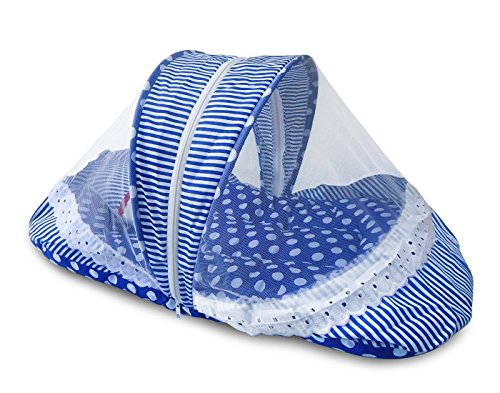 Littly Contemporary Cotton Baby Bedding Set - Polka Print (Blue)