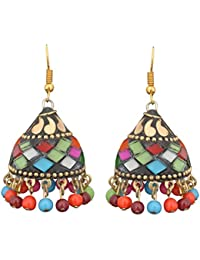 Sitashi Multicolor Metal Jhumki Earring For Women