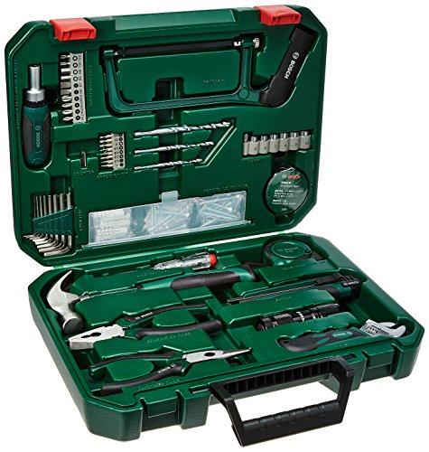 Bosch All-in-One Metal Hand Tool Kit (Multicolour, 108-Pieces)