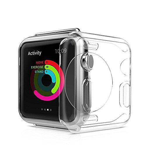 Apple Watch Hülle, Bumper, VIKATech leichte weiche Silikon TPU iWatch Schutzhülle [mit Schutzfolie Feature] Schutz für für Apple Watch 42mm Series 1 / 2 / 3, Sport, Edition, Nike+, Transparent