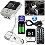 Gadget Zone UK Wireless Bluetooth Auto MP3 Player FM Transmitter LCD USB Port Mobile Charger Kit Kit für iPhone 7, 7 Plus, SE, 6 6S,5 5s, 4 Samsung Galaxy S6 Edge und weitere Smartphones