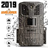 WiMiUS Wildlife Camera 16MP 1080P HD Trail Game Camera with Night Vision Detection