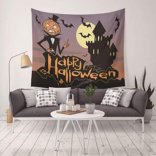 isserie Halloween Muster Wandbehang Startseite Bettlaken Yoga Matte Blatt Tischdecke Strand Decke Wand Hintergrund Hippie Tagesdecke Handmade Tapisserie GT-72 ()