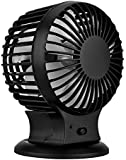 Extsud Handheld Mini Fan Battery Operated Desktop Cooling Fan for Home and Travel Black