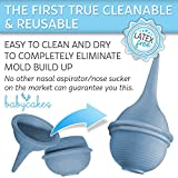 Baby Nasal Aspirator and Nose Cleaner for Newborns and Toddlers - Cleanable and Reusable Baby Nasal Aspirator Syringe - Hospital Medical Grade Nose Suction by Babycakes