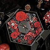Kerze ewige Blume Geschenkbox Geschenk Duftkerze Blumenkasten Valentinstag Weihnachten Geburtstagsgeschenk Kokosöl Aromatherapie Geschenkbox wahre Liebe ewige Sechseck Geschenkbox