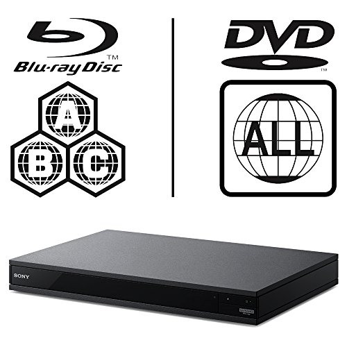 Sony UBP-X800.CEK MULTIREGION 4K Ultra HD ICOS Multi Region All Zone Code Free BLU-Ray Player. BLU-Ray Zones A, B and C, DVD Regions 1-8