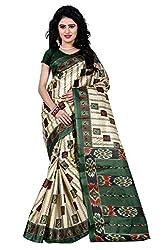 Trendz Style Taffeta Silk Box Print Saree(TZ_1014_A)