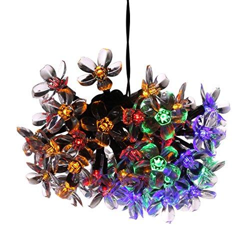 Koiiko® Impermeabile Luci ad alimentazione solare con 2modalità Flash fiori colorati luce, 6,4m 50lampadine LED multicolore Blossom lampada decorativa