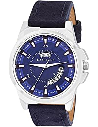 Laurels Blue Color Day & Date Analog Men's Watch With Strap: LWM-NXN-030307