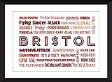 Ton von Bristol 11 x 14/8 x 10/5 x 7 A3 / A4 / A5 Typografie Drucken Bristol Bands / Musiker - Sound of Bristol
