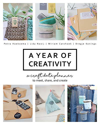A Year of Creativity: A Craft Date Planner to Meet, Share, and Create - Craft Kit-case