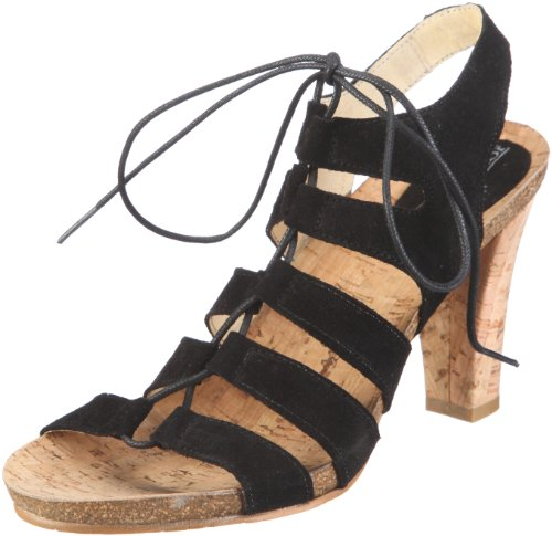 John W. Shoes Viginia 1084, Sandales mode femme Noir - V.6