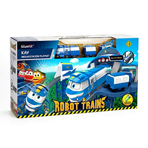 Robotrain-megaplayset Station de Kay Playset de Jeu, Multicolore (Bizak, S.A. 62000170)