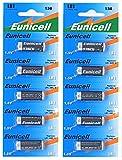 10 x LR1/N/Lady 1,5V (2 Blister a 5 Batterien) Alkaline Batterie AM5, UM5 4001, 4901, MX9100, 910A Markenware Eunicell