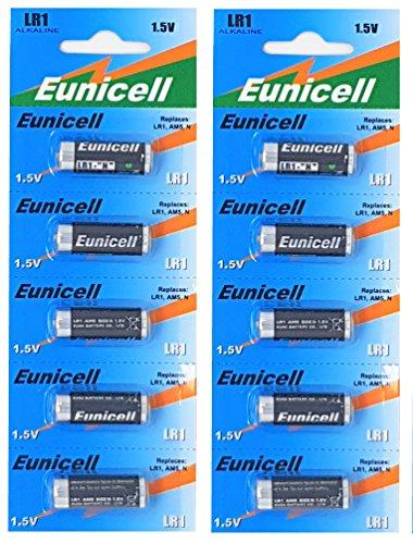 10 x LR1 / N / Lady 1,5V ( 2 Blister a 5 Batterien ) Alkaline Batterie AM5, UM5 4001, 4901, MX9100, 910A Markenware Eunicell