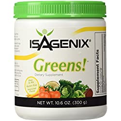 Greens!-Antioxidant and Probiotic Support 30 Day Supply by Isagenix Greens!