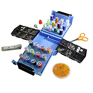 Kit da cucito per principianti in confezione da 100 pezzi con rocchetti,metro,spilli,bottoni a marchio CurtzyTM