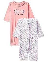 MINI KLUB Baby Girls' Regular Fit Romper Suit (Pack of 2)