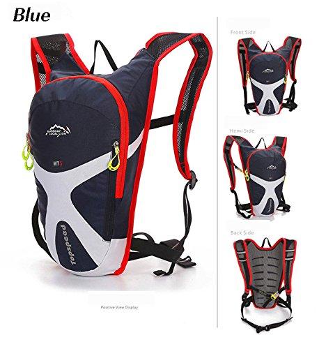 West Biking Mini Bike-Rucksack 5L 8 Farben Blau - Dunkelblau