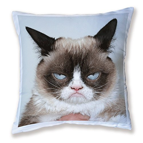 Coussin Décoration Grumpy cat ( chat grincheux ) - Fabriqué en France - Chamalow Shop