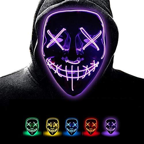 Danolt Halloween Party Masken leuchten unheimlich Maske Glow In Dark Cosplay-Maske für Halloween Christmas Kinder Party.